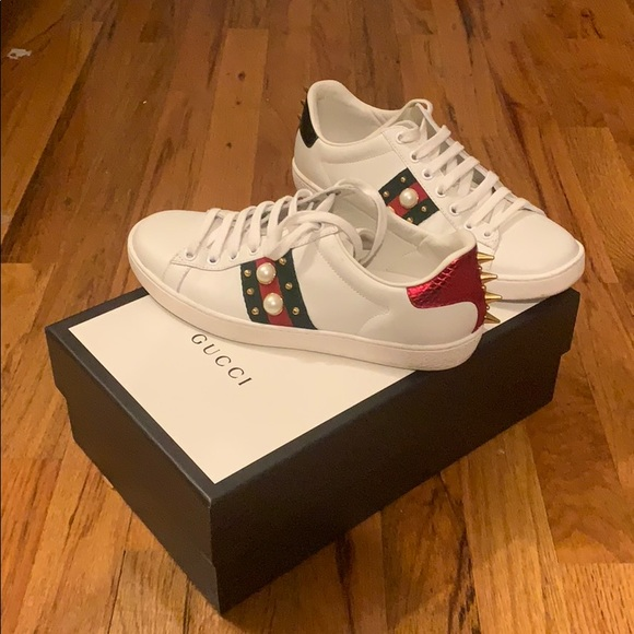 Gucci Shoes | Gucci Ace Studded Leather
